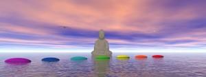 chakras and buddha